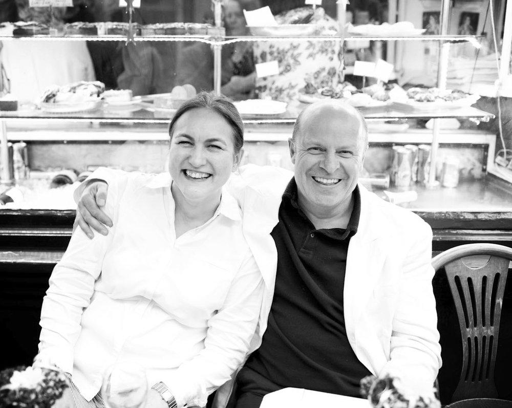 Baizdon founders, Tee Dobinson and Johnny Morris outside Maison Bertaux in Soho, London .  photo Joe Plimmer