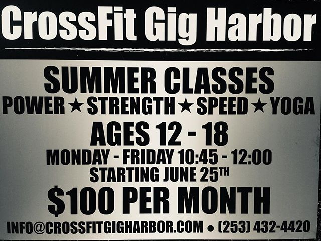 There a few spaces available for kids who want to Keep their Edge or Build a Foundation this Summer.  Call, email or DM us to get started.  Rolling admission through next week.  2018 marks our 9th year of training and investing in the young athletes of our community.  #gigharbor #crossfitkids #youngleadersclass #hardwork=success