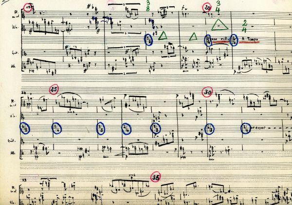 Facsimile of  Le marteau sans maître  by Pierre Boulez, available for purchase at Schott Music (click to view)