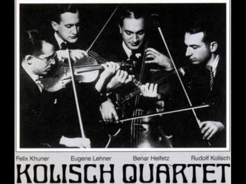 Khuner, Lehner, Heifetz, and Kolisch
