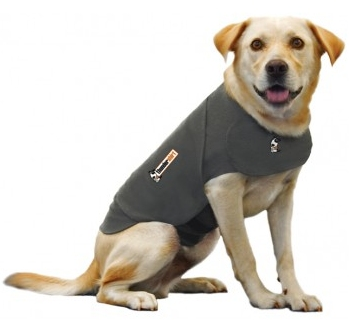 ThunderShirt uses gentle hugging to calm your dog or cat. With its  patented design, ThunderShirt's gentle, constant pressure has a dramatic  calming effect     for most dogs and cats if they are anxious, fearful  or overexcited.