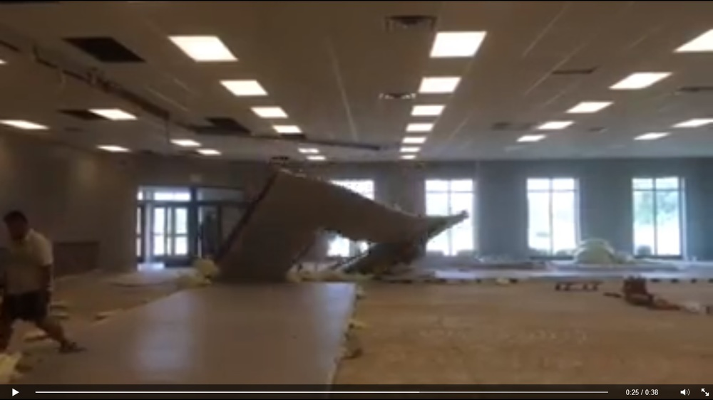 The walls are tumbling down!  Click the still above to see the videos of our current construction!