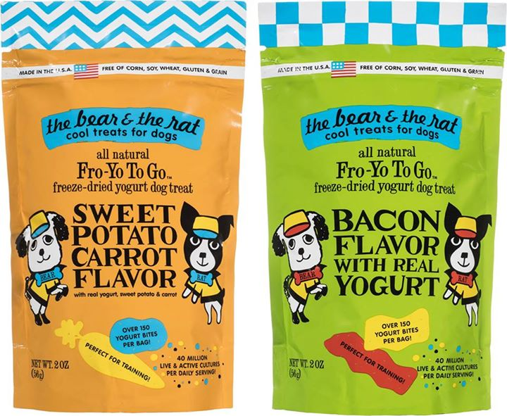 These just in!  Freeze-dried Yogurt Treats from The Bear and the Rat :)