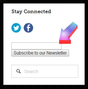 Sign up for our newsletter under the Stay Connected section in the upper right of our blog site.