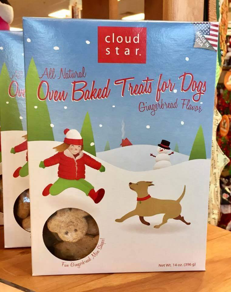 Cloudstar's oven-baked gingerbread men are a favorite among dogs every holiday season. Get your buddy a box before they're gone!