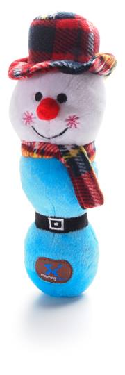 Charming Charlie's Holiday Hoppers like this snowman are dogs' favorites! Also available as Penguin or Reindeer.