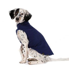 Gold Paw Stretch Fleece in Navy