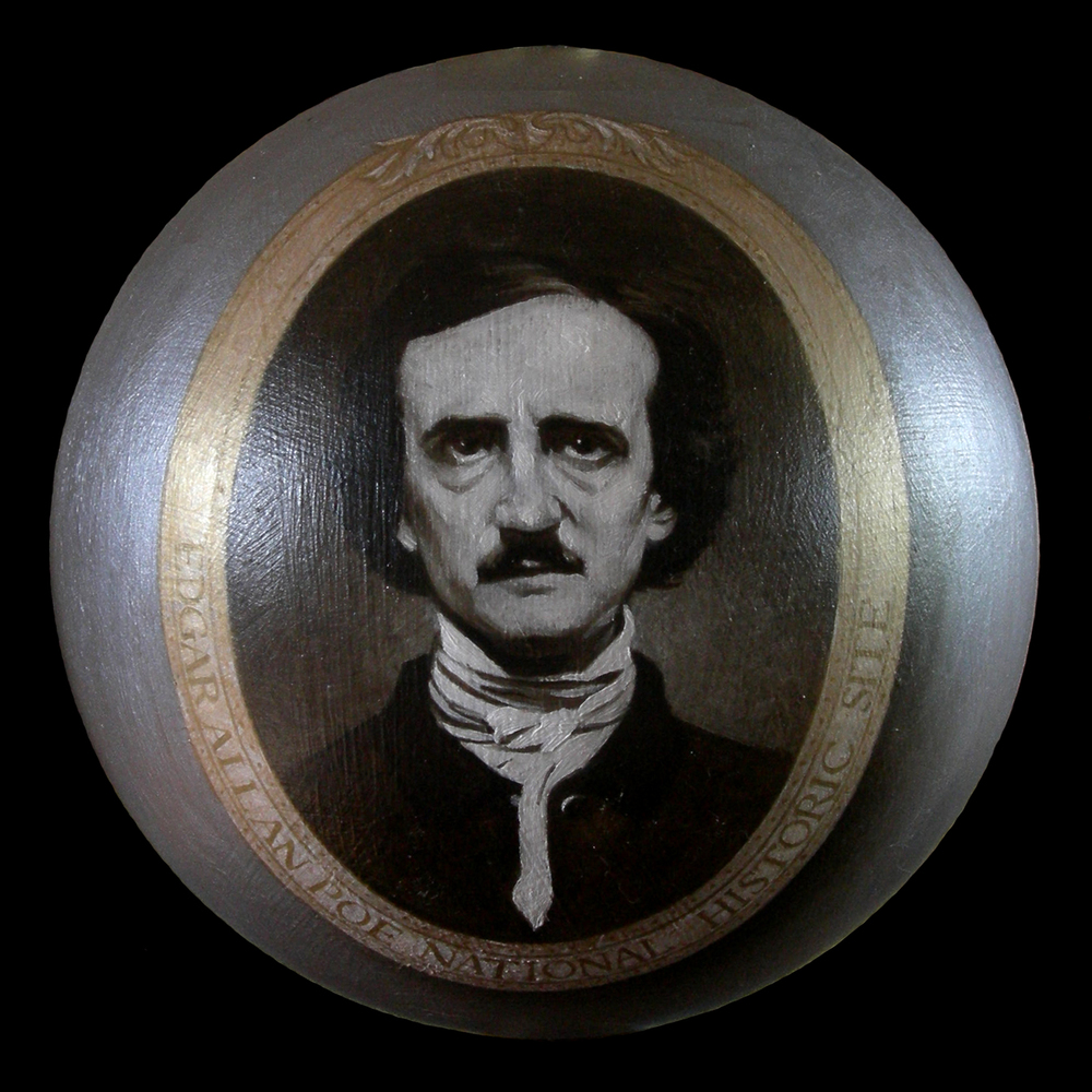 """Edgar Allen Poe Ornament"""