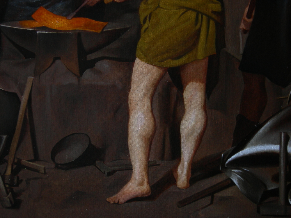 """The Forge of Vulcan"" (detail)"