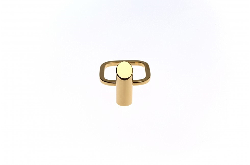 RING TUBE CUT GOLD