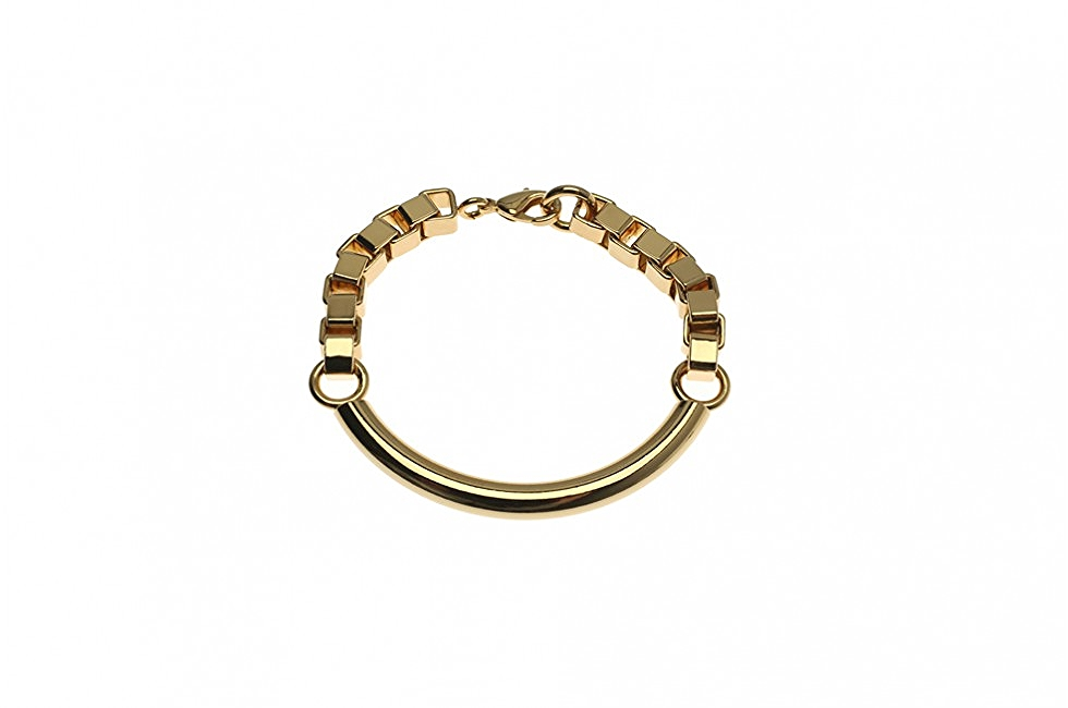 BRACELET HEAVY CIRCULAR ORBIT GOLD