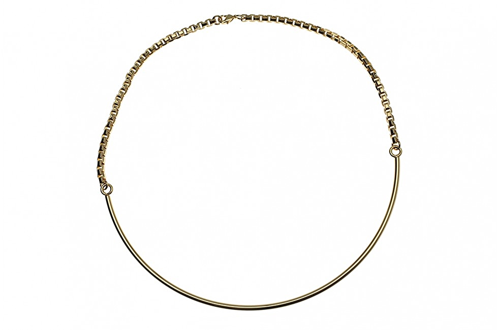 NECKLACE FINE CIRCULAR ORBIT GOLD