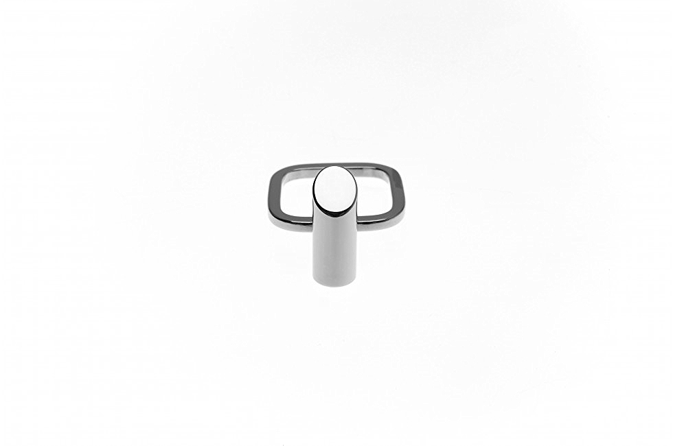RING TUBE CUT SILVER
