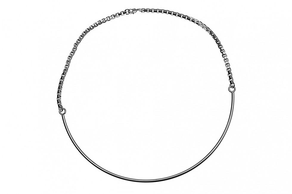 NECKLACE FINE CIRCULAR ORBIT SILVER