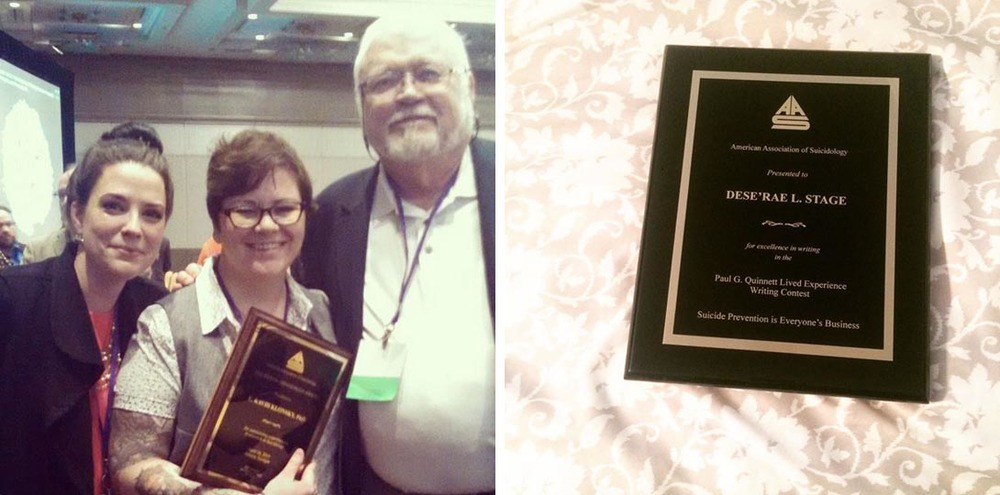 If you look really hard at the image on the left (with Dr. Foreman and Paul Quinnett, himself!), you'll notice two things: the first is that I totally made Dr. Foreman cry when I thanked her for being such an amazing mentor, and the second is that I'm holding the wrong award! Oops.