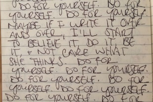 A page from my journal, June 2006.