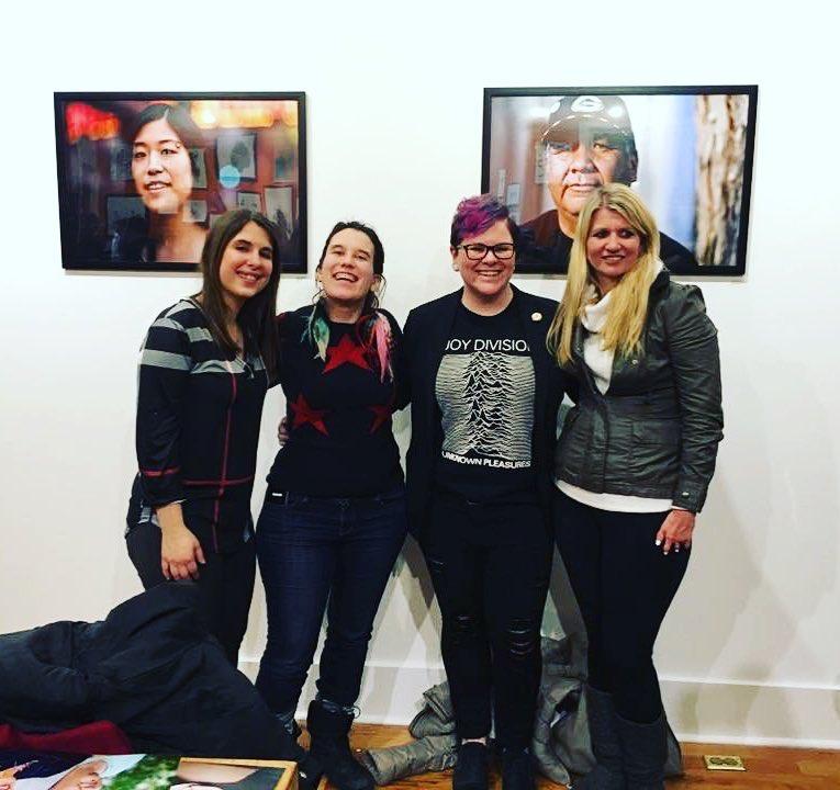 Kim Schwartz, Caitlin Coleman, me, and Heidi Diskin