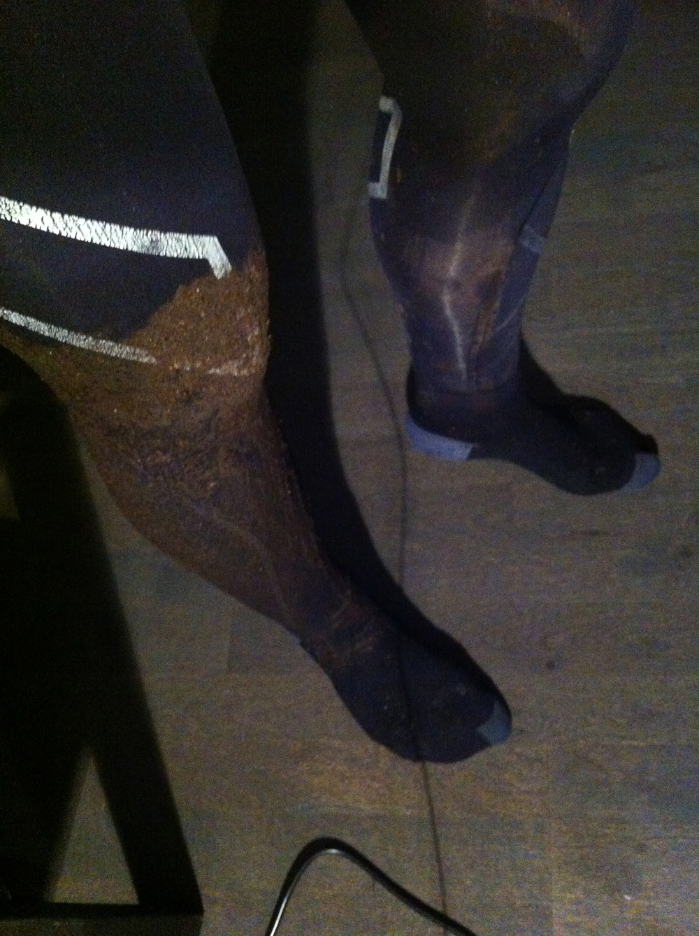 Gjørmete 2XU tights. Lav babefaktor eller hva Hege?