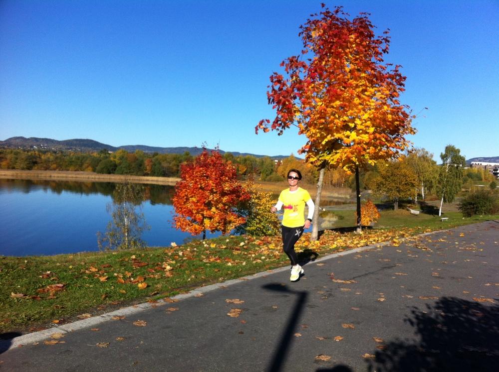 Vakkert eller hva? Hege i gult - matcher høsten perfekt!