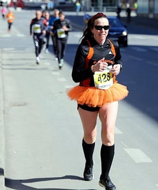 Fredrikstad halvmaraton, eneste løp med tyll i 2013