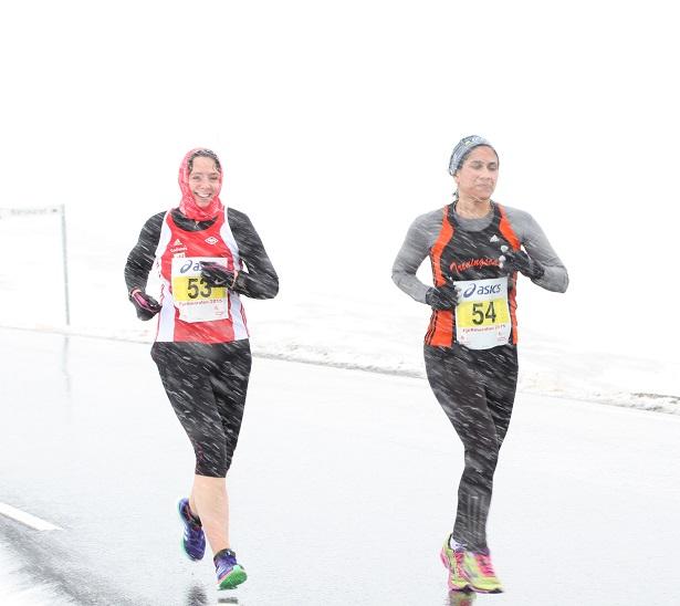 Meg og Lise ved ca 7-8 km. Foto Kondis.no, anita øy