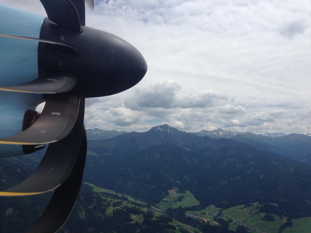 Innflyvningen i Innsbruck var brukbar fin!