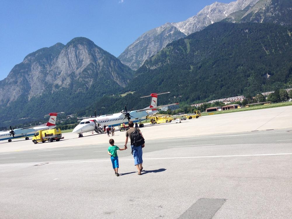 Overraskende liten flyplass i Innsbruck!