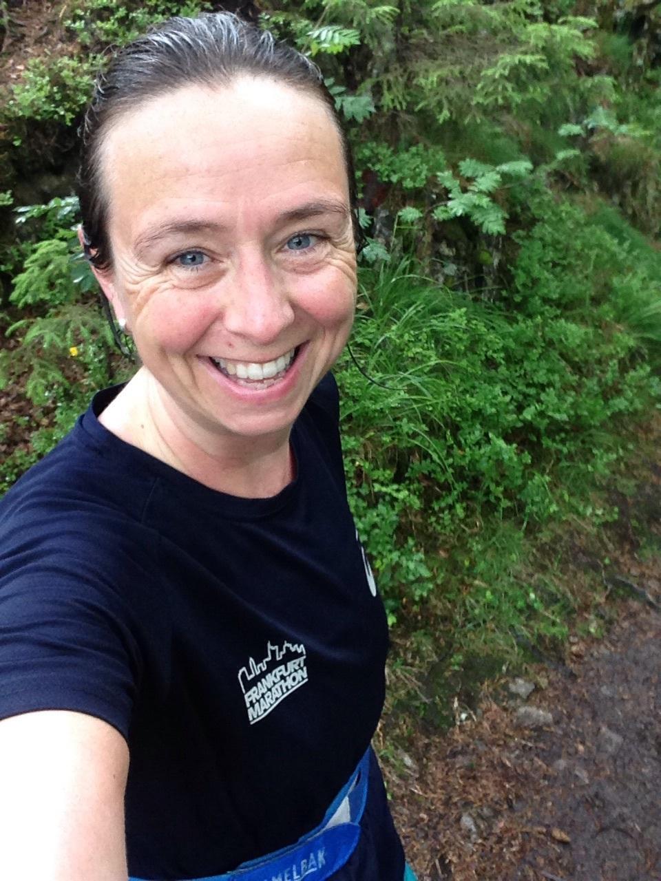 Vanskelig å begrense smilet etter 30 km i øs-pøs i beste nordmarka