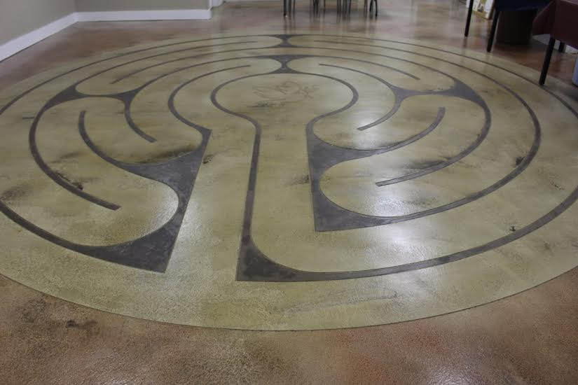 Children's Labyrinth with Dove of Peace