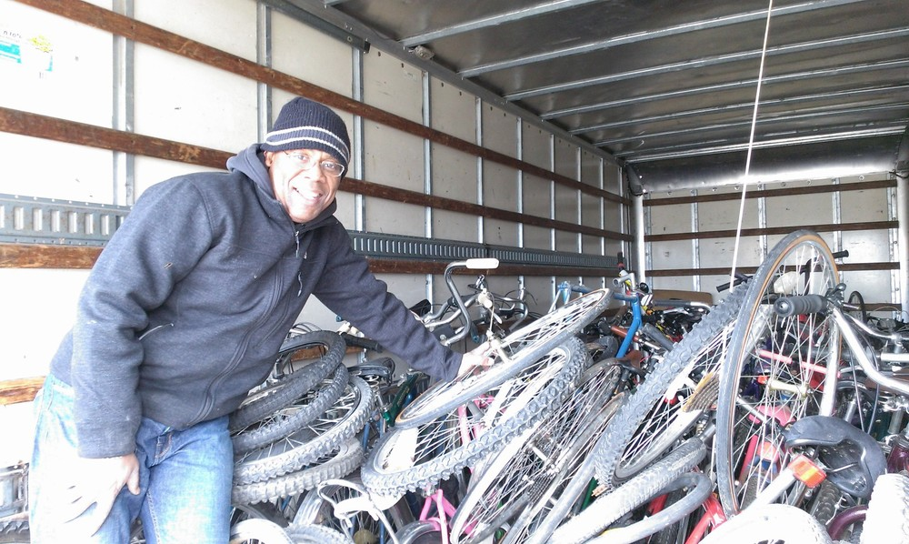 Kenneth and the bikes!