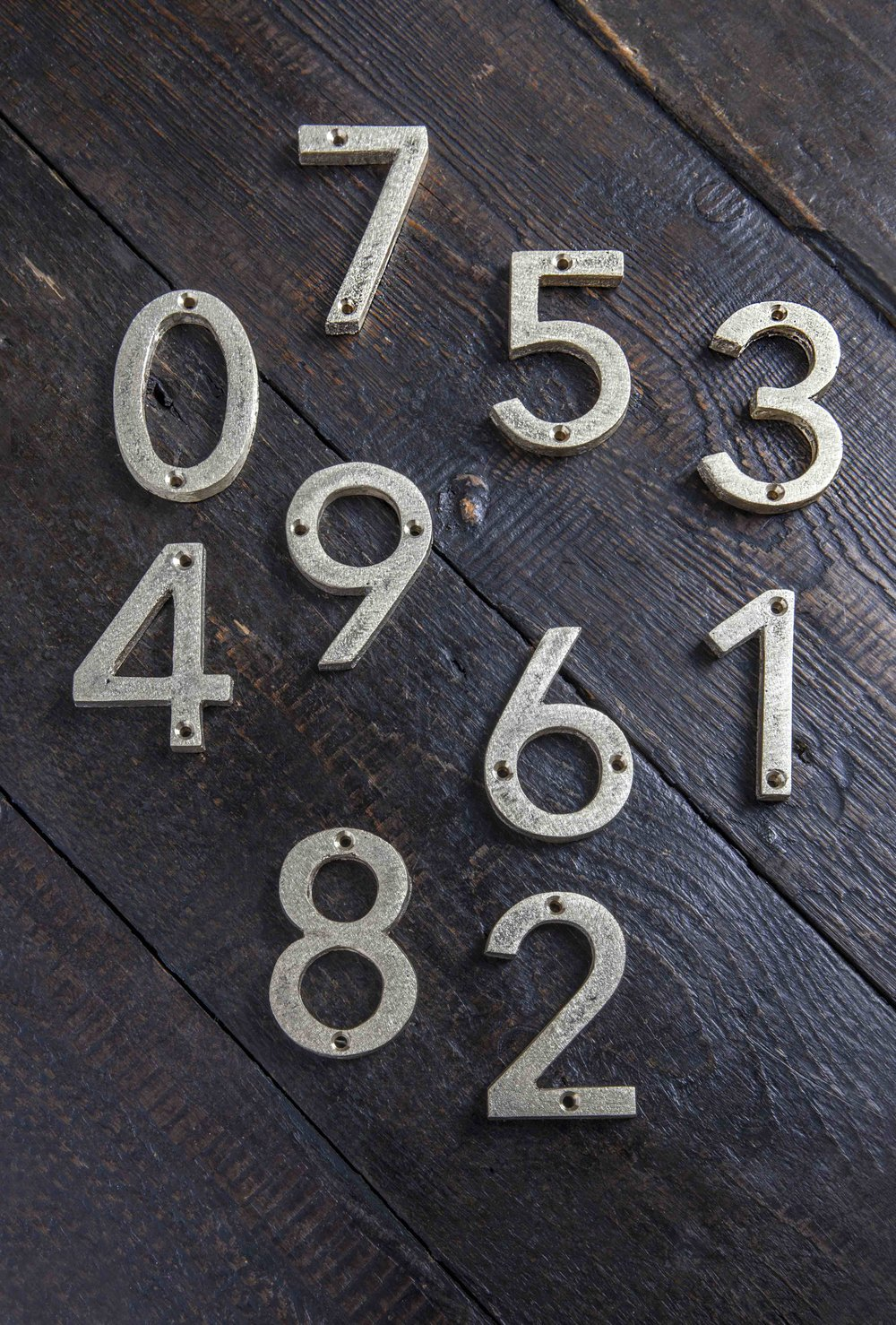 Door Numbers Cast Brass & Door Numbers Cast Brass u2014 Mark Lewis Interior Design