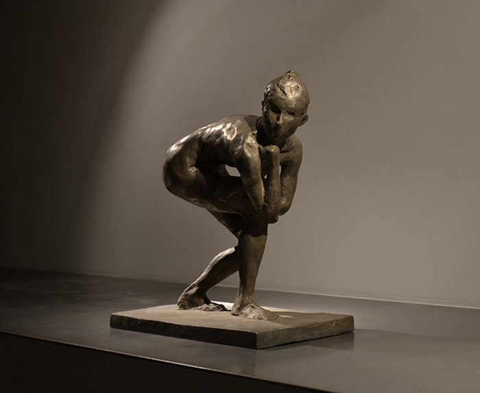 Swimmer at Rest , Study, 1995 Medium: Bronze Dimensions: 17 x 9 x 14 inches Edition of 5 Arabic Numbers and 2 Artist Proof