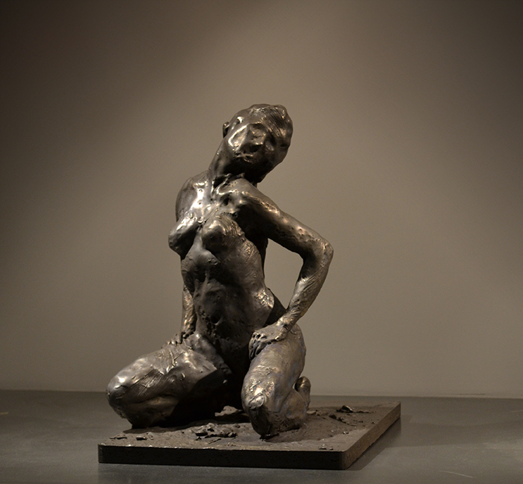 Untitled (Kneeling Woman) , 2012 Medium: Bronze Dimensions: 16 x 11.5 x 16 inches Edition of 9 Arabic Numbers and 2 Artist Proofs
