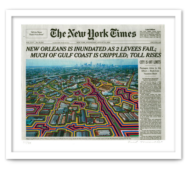 August 31, 2005 , 2009  Medium: Serigraph on acid-free paper Dimensions: 15 x 17.5 inches Edition of 80 Arabic Numbers and 25 Artist Proofs Signed and Numbered    © Fred Tomaselli 2009