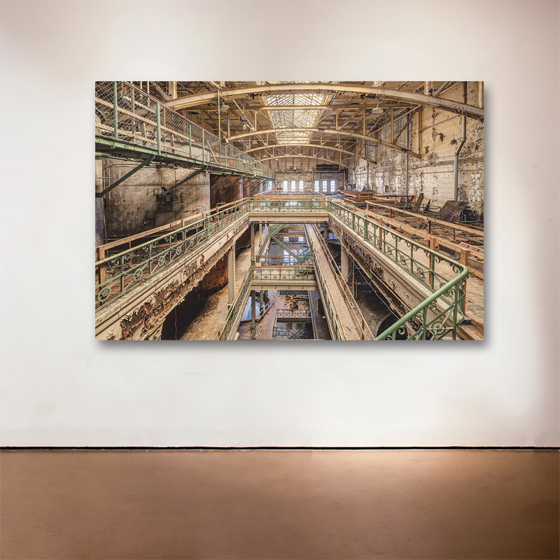 "Schlitz Sanctuary, 2014 Medium: Sublimation on Aluminum Dimensions and Edition Size: 48""x72"", Edition of 7 