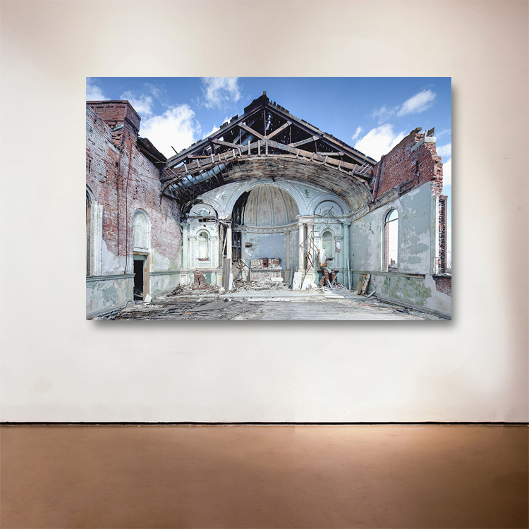 "Clemens House, 2014 Medium: Sublimation on Aluminum Dimensions and Edition Size: 48""x72"", Edition of 7 