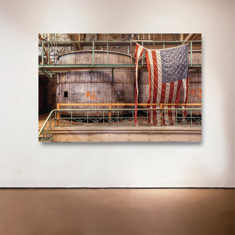 "Made In the USA, 2015 Medium: Sublimation on Aluminum Dimensions and Edition Size: 48""x72"", Edition of 7 
