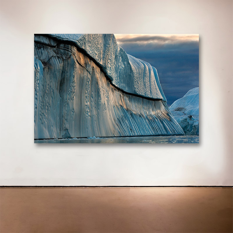"Copper Iceberg, Disko Bay, Greenland, 2007  - 2015 Medium: Sublimation on Aluminum Dimensions: 32 x 48"" Edition of 9 + 2 Artist Proofs"