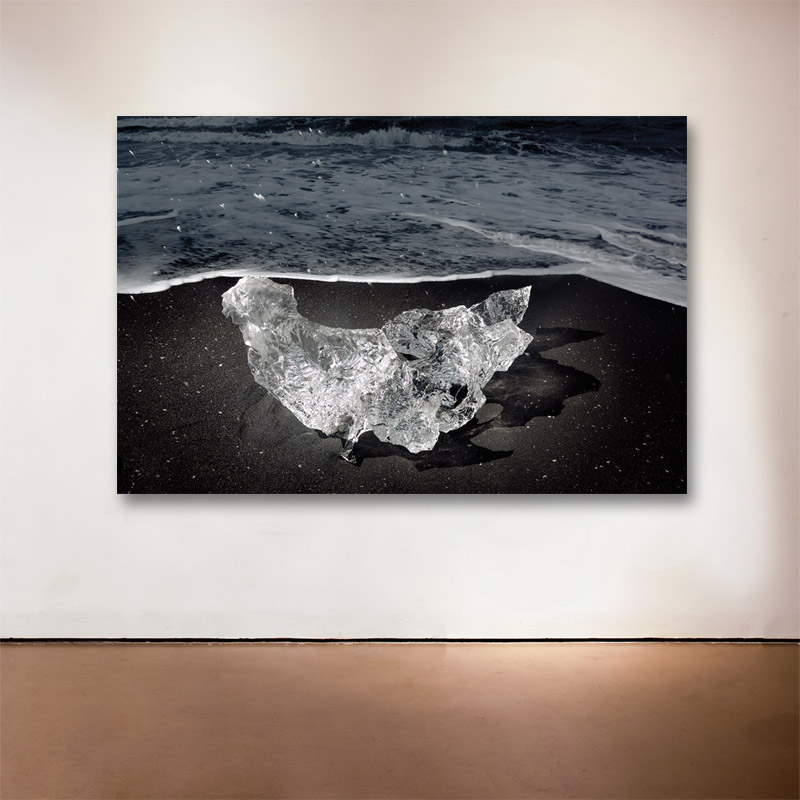 "Ice Diamond No. 1, Iceland, 2007  - 2015 Medium: Sublimation on Aluminum Dimensions: 32 x 28"" Edition of 9 + 2 Artist Proofs"
