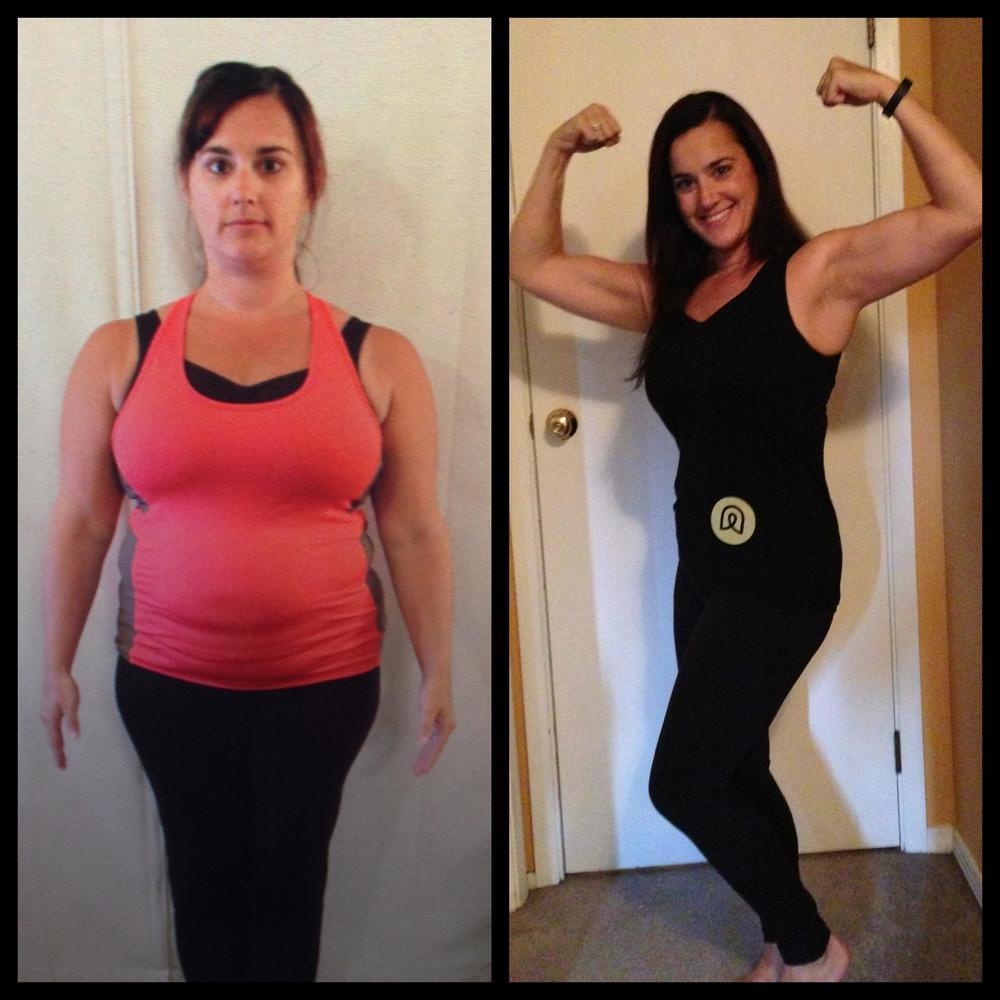 "Jeanna lost 21 total inches from her entire body, and 9"" were from her waist. She looks amazing rockin' her Aspire Total Fitness Tank!"
