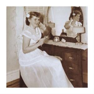 My Mom on her wedding day, circa 1950 ...