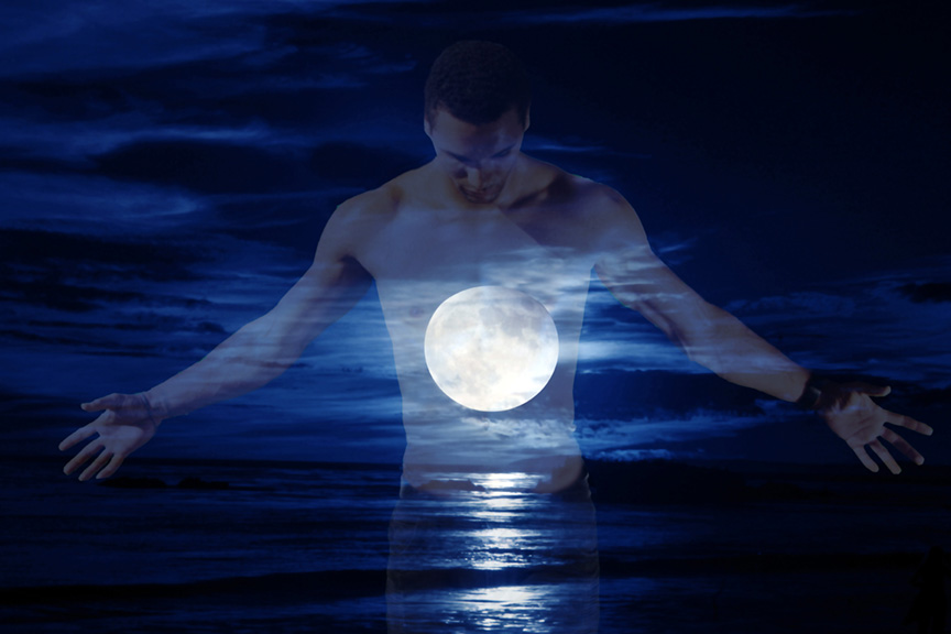 Man Embracing Moon