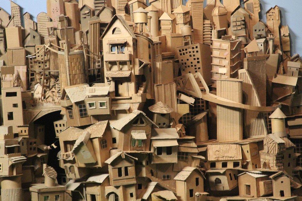 Cardboard city detail 2