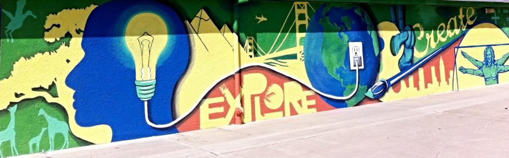 Explore. Create. Exterior Wall, Stucco.    55f'x 8'