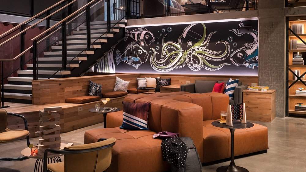 A look at the Octopus mural for the new MOXY Hotel in downtown San Diego