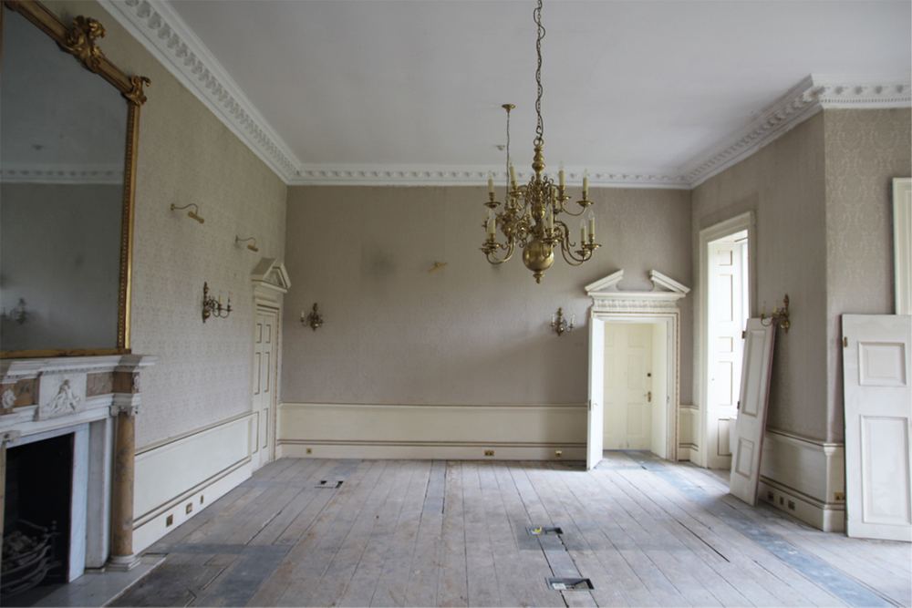 The location used for Dido and Elizabeth's bedroom at Kenwood House before work commenced.