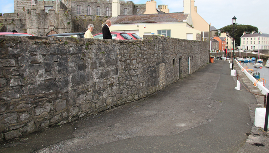 The location I chose to build the street on the Isle of Man.