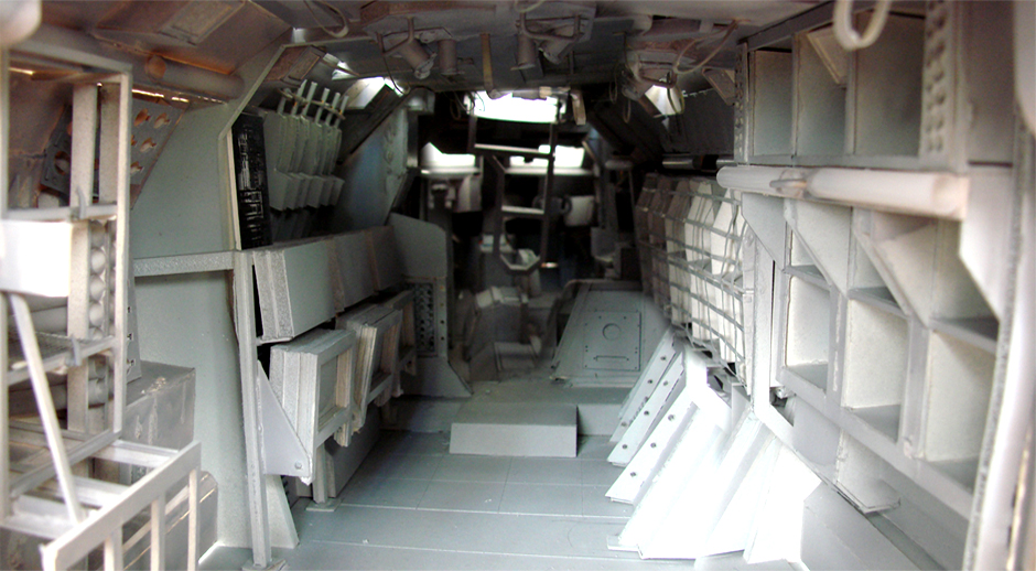 Scale model of the interior APC set used for both vehicles with some revamp.