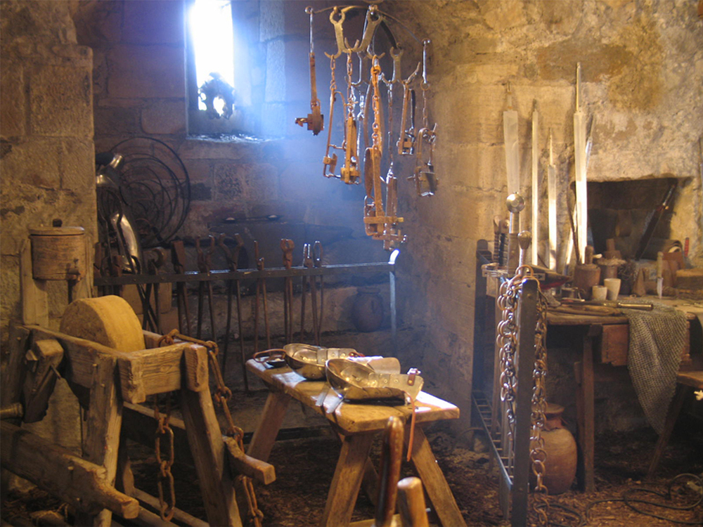 Interior blacksmith's set.