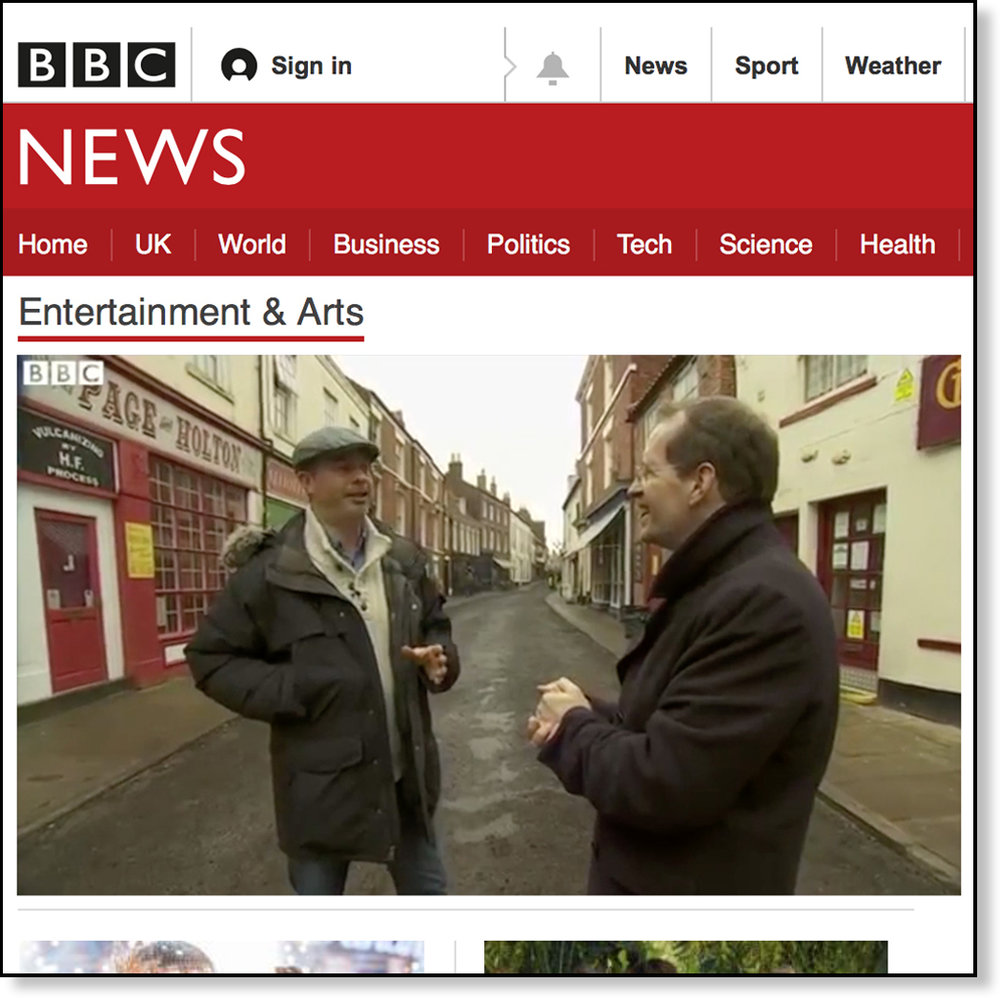 INTERVIEW WITH BBC TV (CLICK TO WATCH)